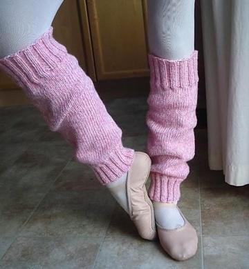 polainas tejidas a dos agujas de niña