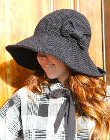 sombreros a crochet para niña elegante