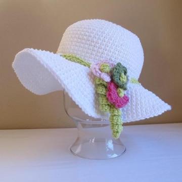 sombreros a crochet para niña grande