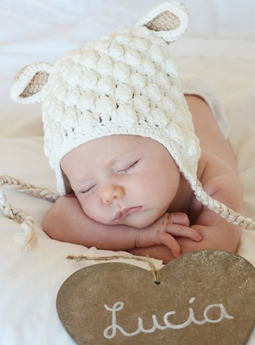 sombreros a crochet para niña recien nacida