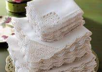 Modelos de tejidos para orillas de servilletas preciosas