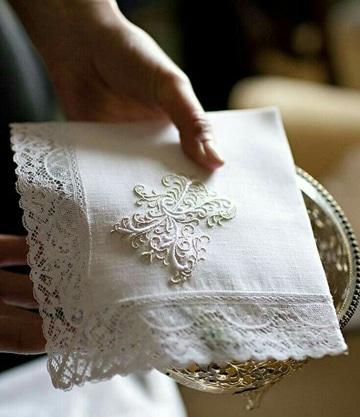 tejidos para orillas de servilletas elegantes