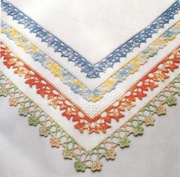 tejidos para orillas de servilletas super lindas
