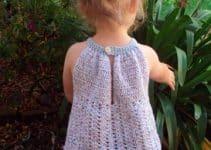 Días de sol con estas blusas tejidas a gancho para niña