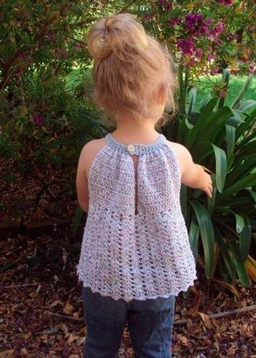 blusas tejidas a gancho para niña tierna