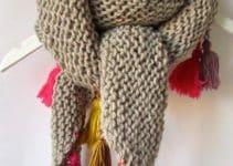 Las bufandas de ganchillo para mujer como las debes llevar