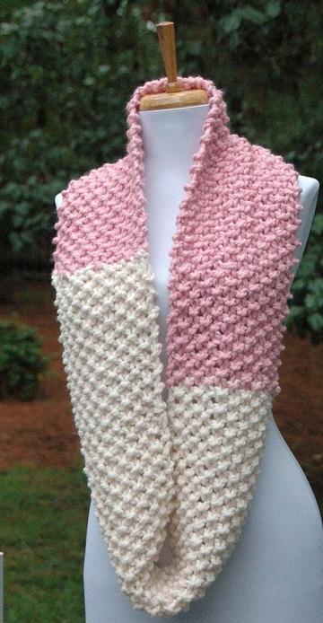 bufandas en crochet paso a paso dos colores