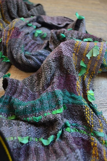 bufandas tejidas modernas coloridas