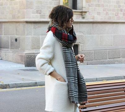 bufandas tejidas modernas con estilo