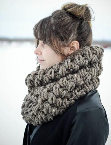 bufandas tejidas modernas gruesas