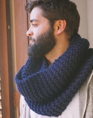 bufandas tejidas para hombre gruesa