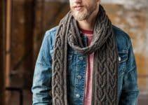 Las bufandas tejidas para hombre como se llevan hoy