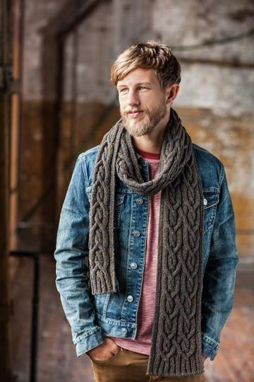 bufandas tejidas para hombre unicolor