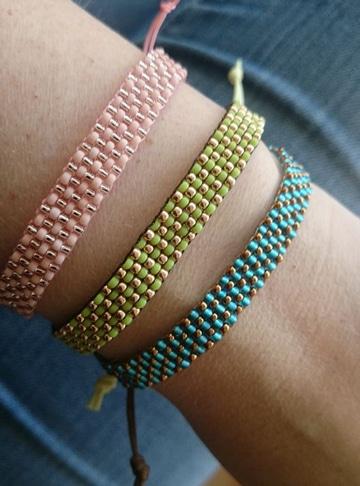 cómo se hacen las pulseras tejidas
