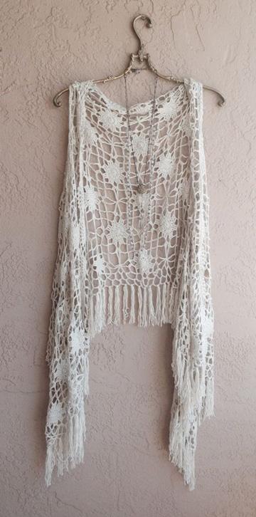 chalecos de crochet para verano ligeros