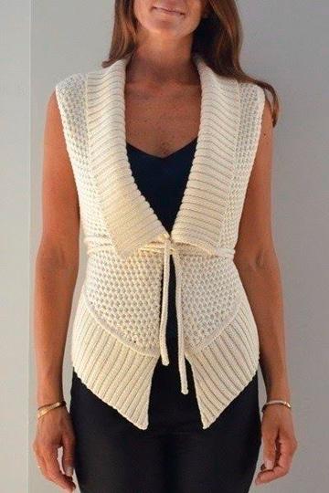 chalecos tejidos a gancho modernos y elegantes