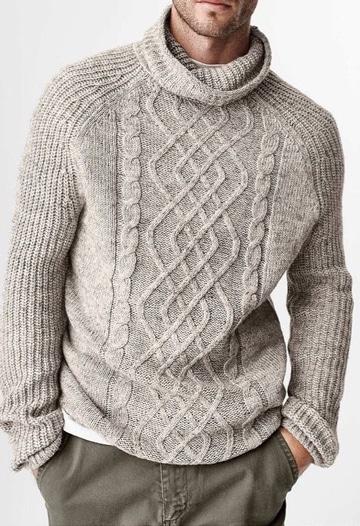 chompas de lana para hombres unicolor
