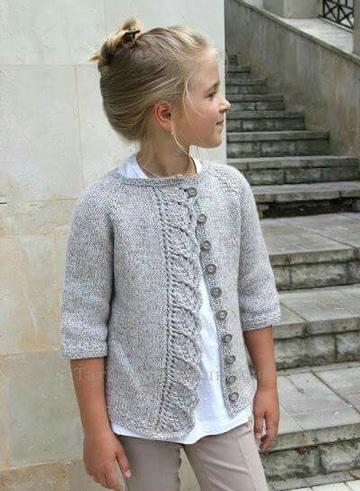 chompas de lana para niñas con botones