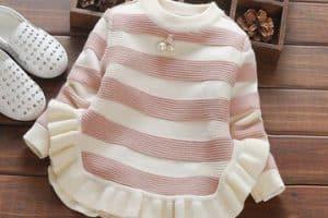 Hermosas chompas de lana para niñas de diferentes edades