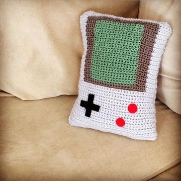 cojines a crochet para niños gamers