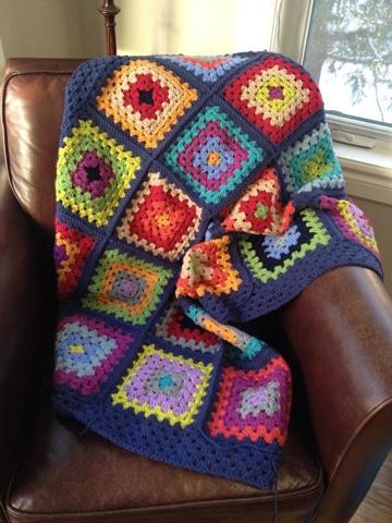 colchas tejidas a crochet de colores comodas