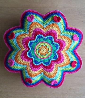 colchas tejidas a crochet de colores ideas patron