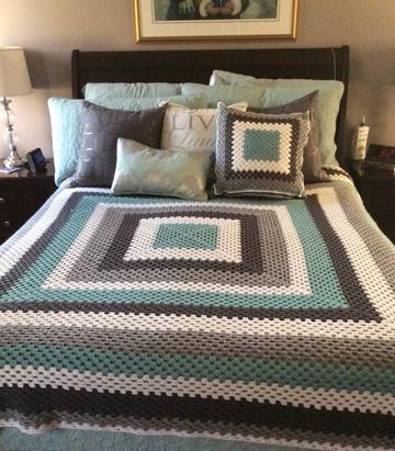 colchas tejidas a crochet de colores para adultos