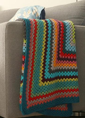 colchas tejidas a gancho de colores