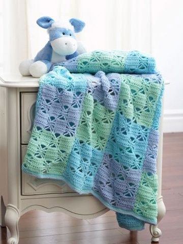 colchas tejidas a gancho para bebes