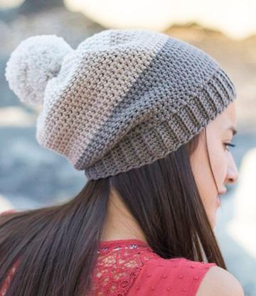 como hacer boinas a crochet femeninas
