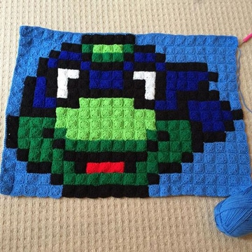 como hacer cuadrados a crochet de niños