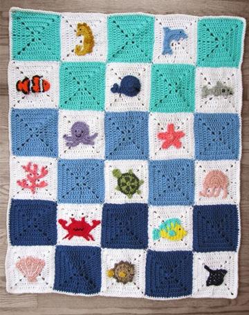 como hacer cuadrados a crochet para cobija