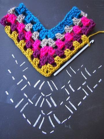 como hacer cuadrados a crochet patron