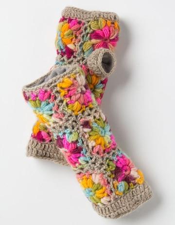 como hacer guantes de lana de colores