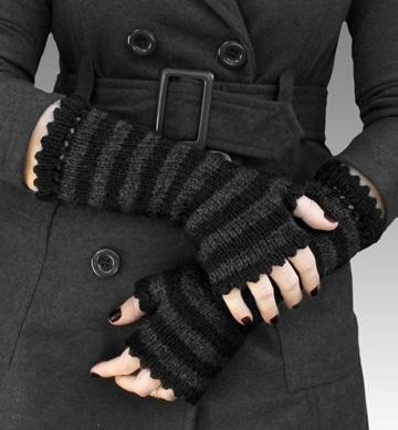 como hacer guantes de lana negros
