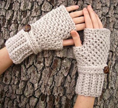 como hacer guantes de lana para mujeres