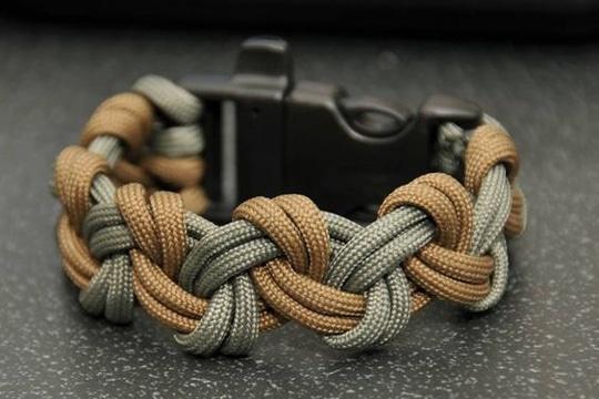 como hacer pulseras de cuerda gruesas