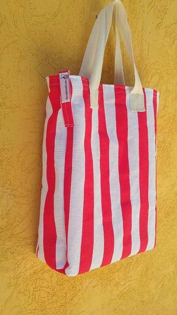 como hacer un bolso matero a rayas