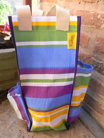 como hacer un bolso matero de colores