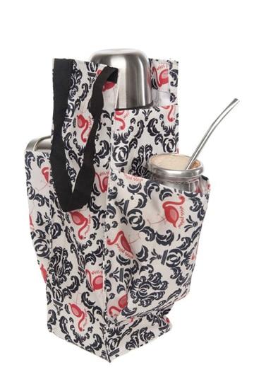 como hacer un bolso matero motivo floral