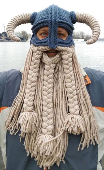 como hacer una barba de lana para disfraz