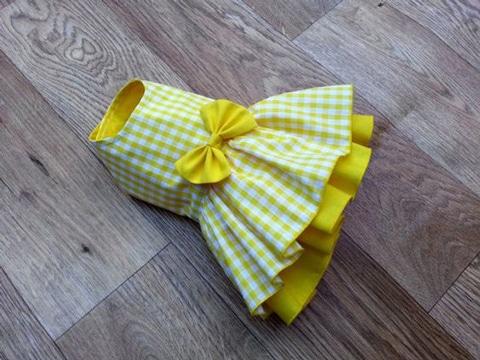 como hacer vestidos para perros con lazo