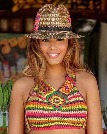 mallas tejidas al crochet de colores