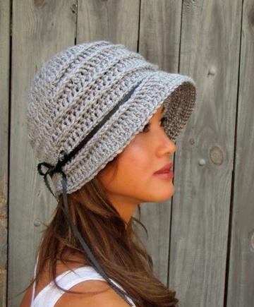 patrones de gorros tejidos a crochet para dama