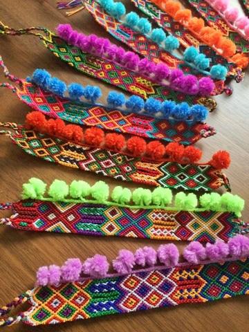pulseras tejidas de moda colorida