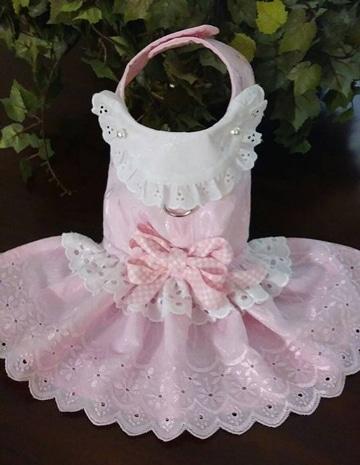 ropa para perritas pequeñas vestido rosado