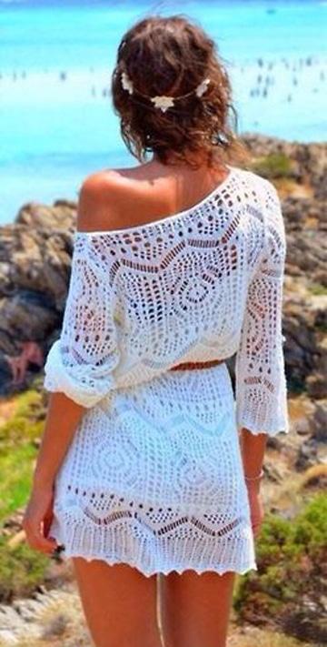 vestidos blancos para playa cortos