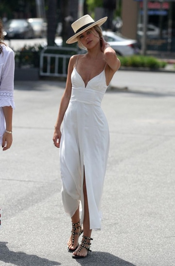 Vestidos Blancos Para La Playa Vestido Azul