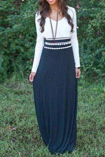 vestidos de algodon largos con mangas