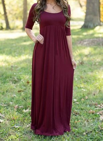 vestidos de algodon largos outfit casual